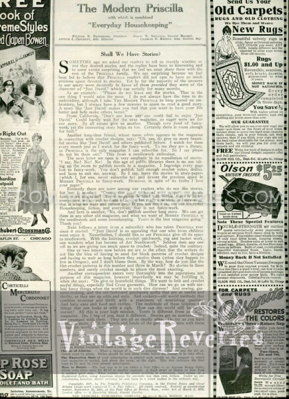 Fashion advertisements from 1917