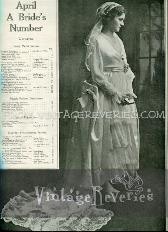 1917 Bridal fashion - April 1917 issue of The Modern Priscilla