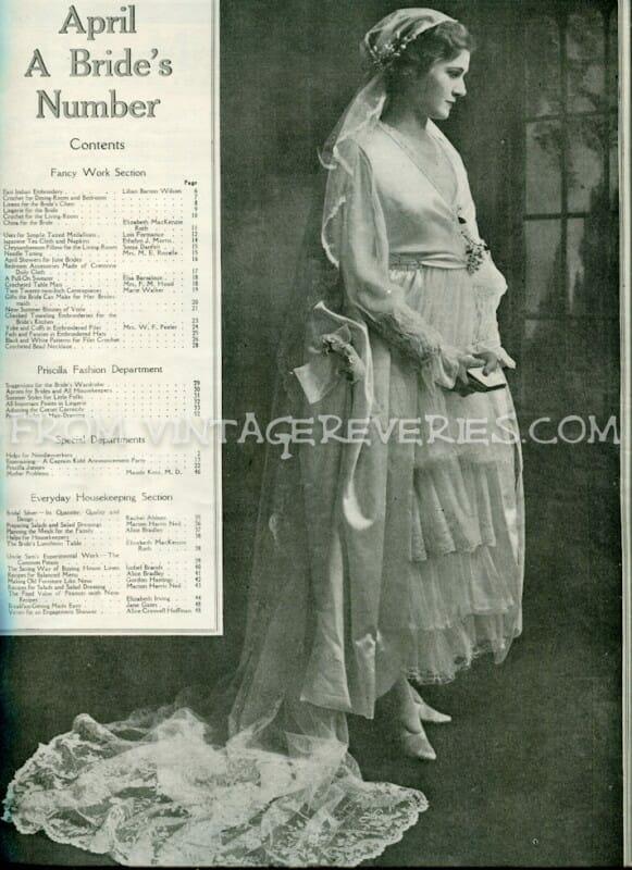 1917 Bridal fashion - April 1917 issue of The Modern Priscilla