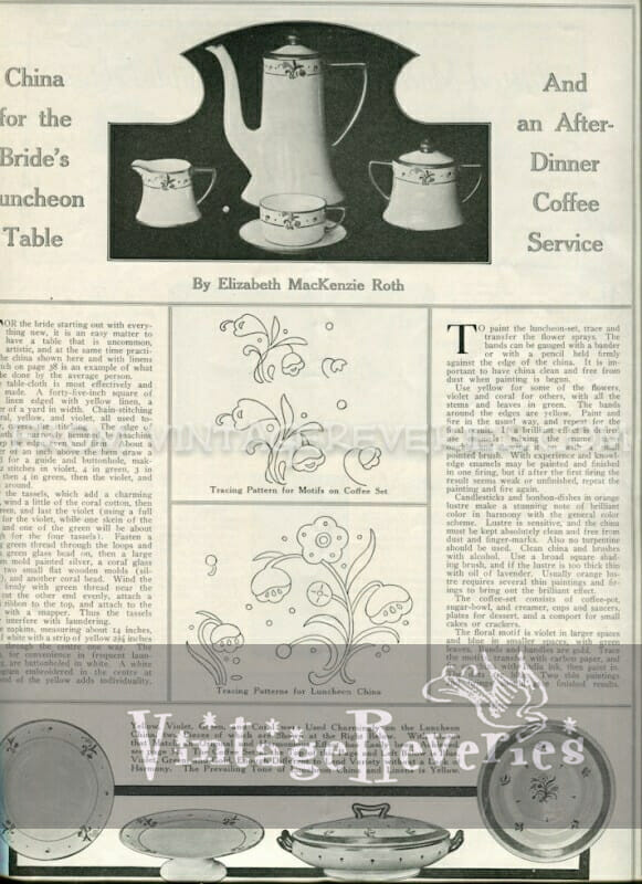 1917 china patterns - April 1917 issue of The Modern Priscilla