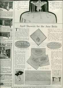April Showers for the June Bride - 1917 Edwardian Era Bridal Gifts