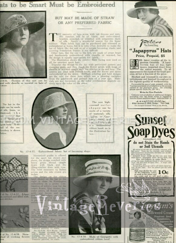 1917 Lace Fashions on Clothing