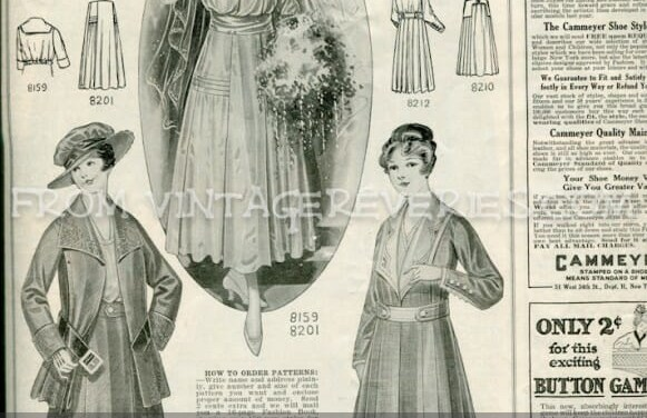Late Edwardian Fashion Illustrations, Style Advice, and Advertisements