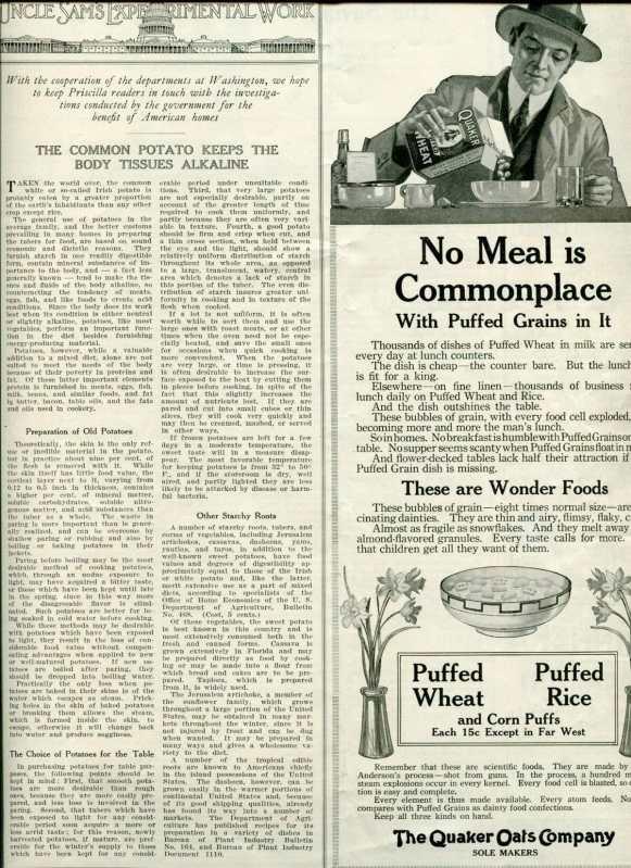 vintage puffed wheat ad