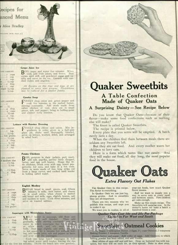 1917 quaker oats advertisement