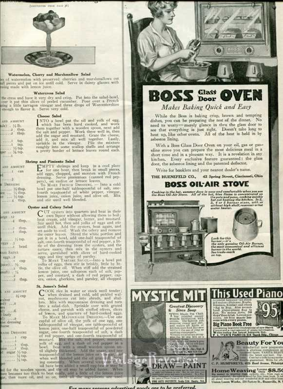 Boss oven advertisement 1917
