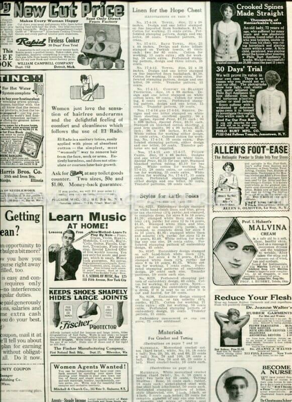 vintage corset ads