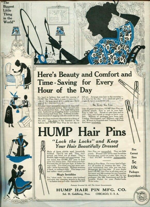old hair pin advertisement