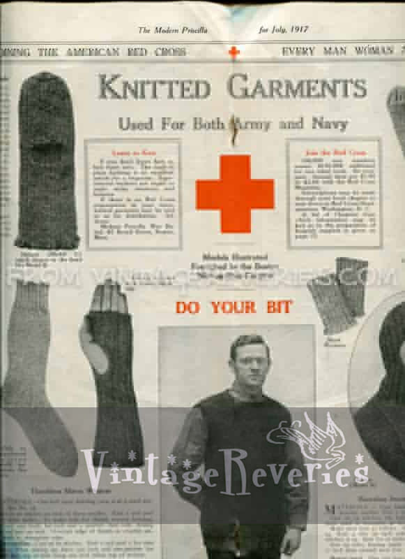 Knitted Garments Used for Both Army and Navy - World War I American Red Cross