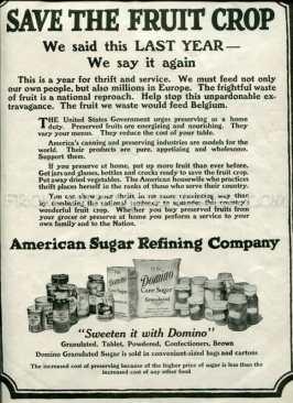 turn of the century Domino sugar advertisement