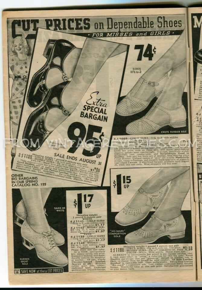 1930s children's shoe styles