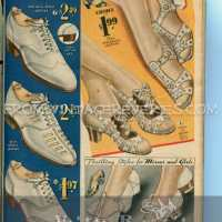 1935 Shoe fashions for women, men, and children
