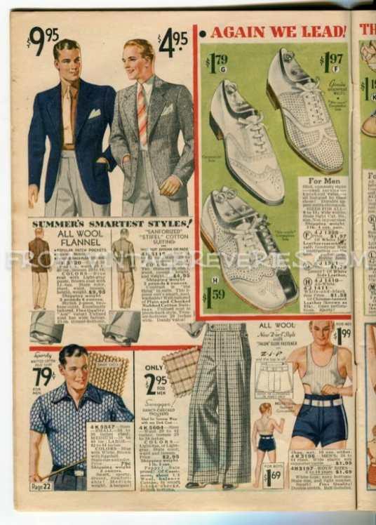 1935 Mens Underwear Fashions
