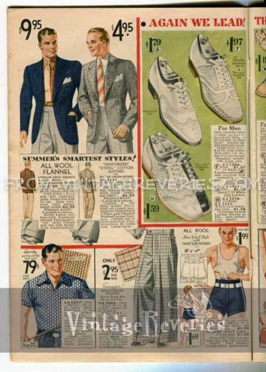 1935 Mens Underwear Fashions