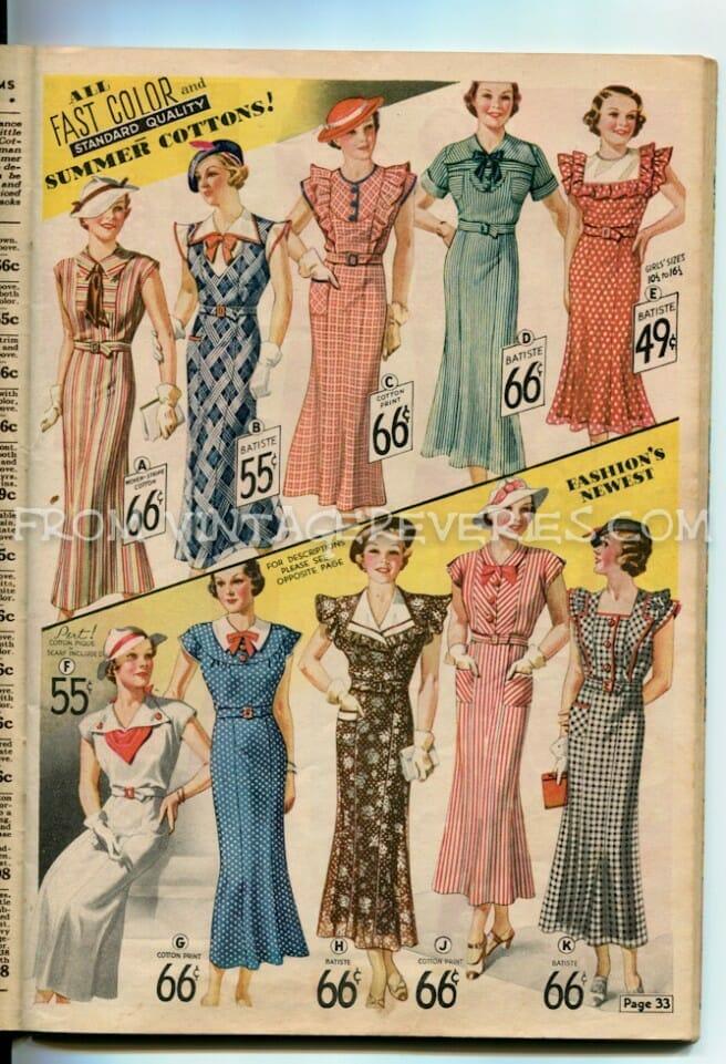 1935 Summer Dress Fashions