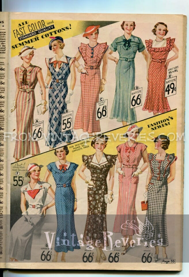 1935 Summer Dress Fashions