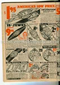 1930s wrist watch ads
