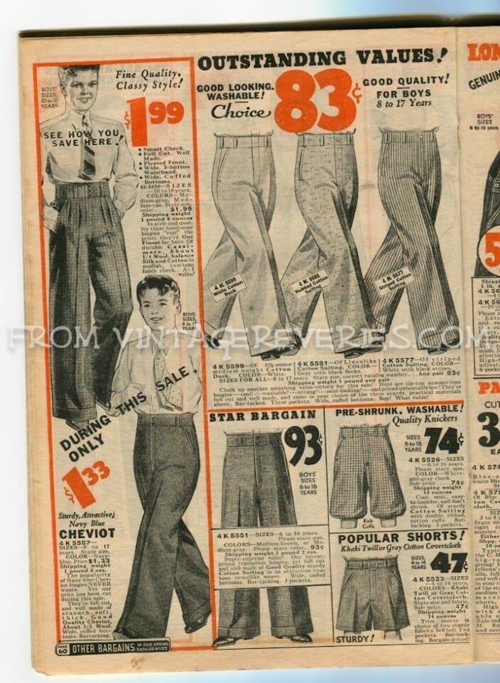1930s Mens Fashion Advertisements