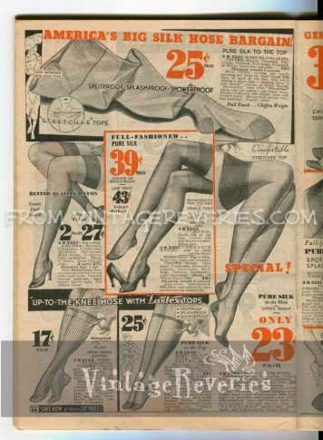 1930s silk stockings prices - History of stockings -