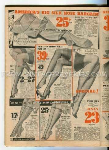 1930s silk stockings prices - History of stockings -