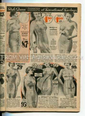 1930s elastic undergarments