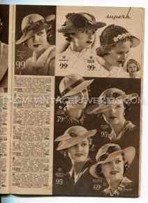 womens hat fashions 1935