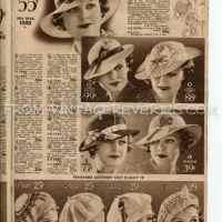 1935 Hat Fashions, Womens Hat Advertisements