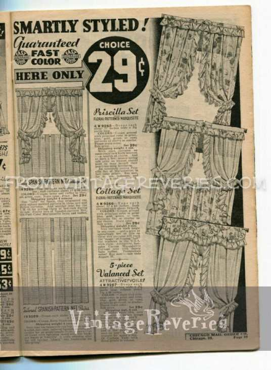 1930s curtain prices