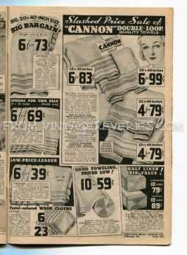 1930s towel prices
