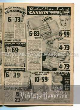 1930s towel prices