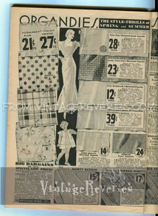 fabrics used in the 1930s