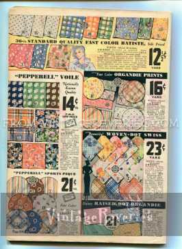 1930s fabric prints advertisement