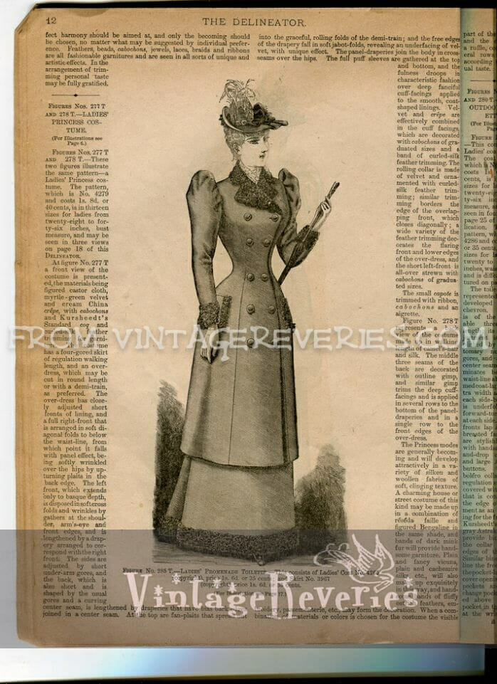 fashionable woman in 1892