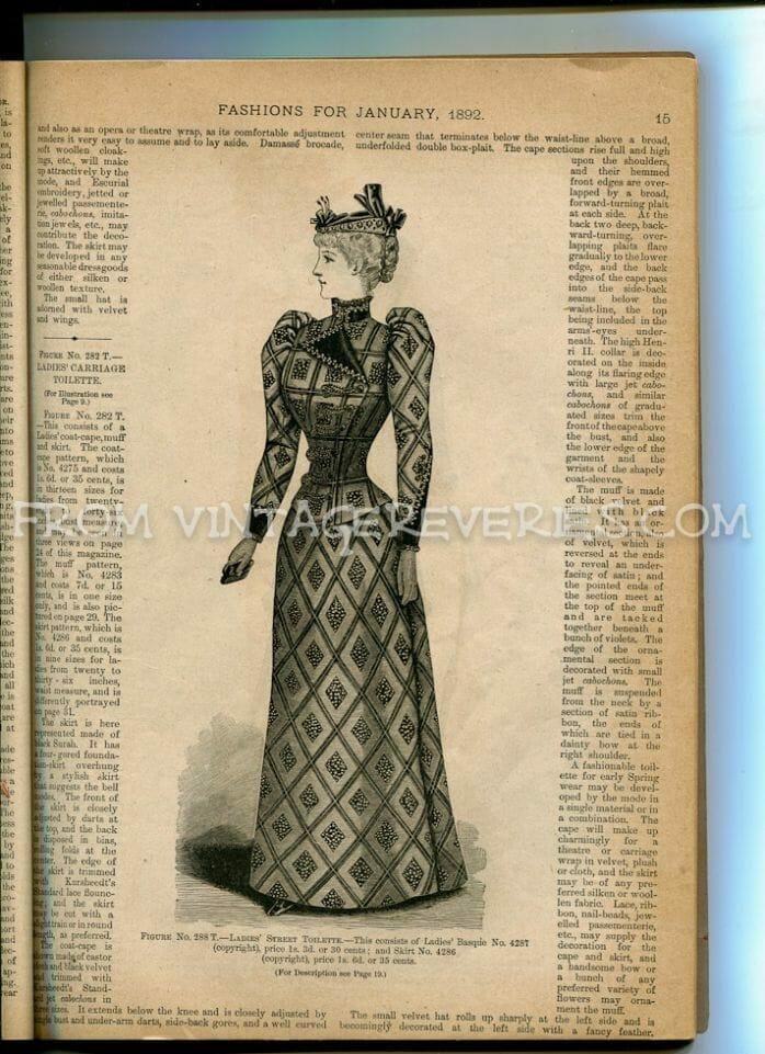 1890s woman in a dress