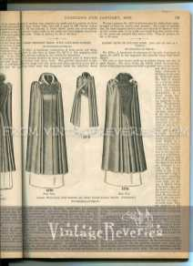 Ladies wrap cape with sleeves and short underjacket front from 1892
