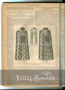 ladies wrap cape with a high collar and puff sleeves
