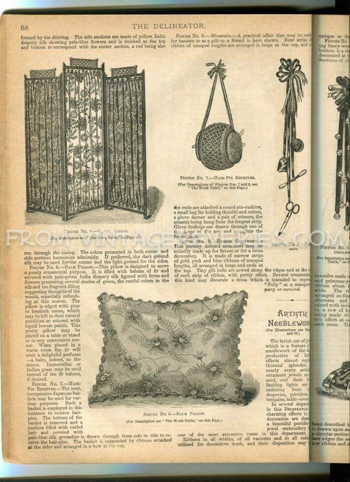 1890s pillow fashions