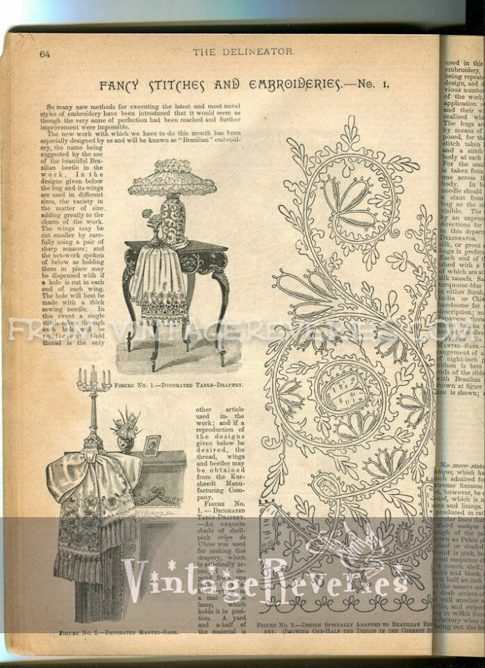 Brazilian Embroidery Pattern from the 1890s