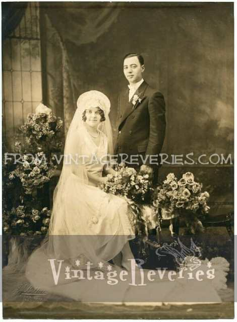 1910s bride and groom