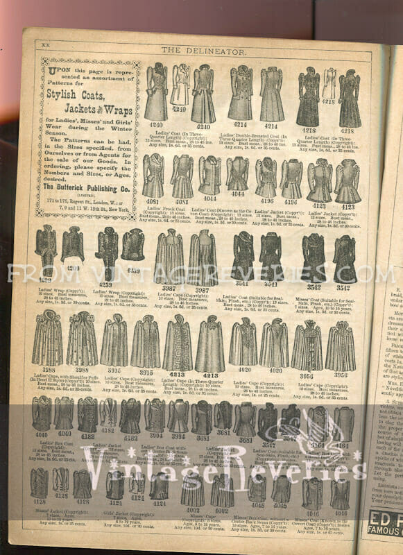 1892 coat and cloak fashion illustrations