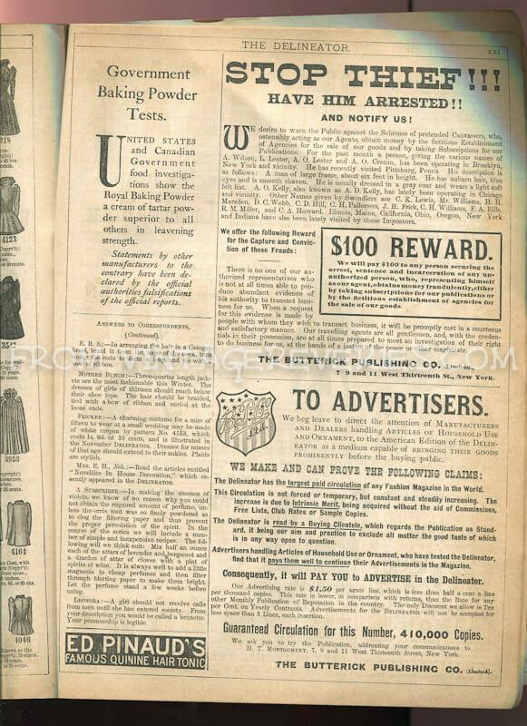 1890s baking soda ad
