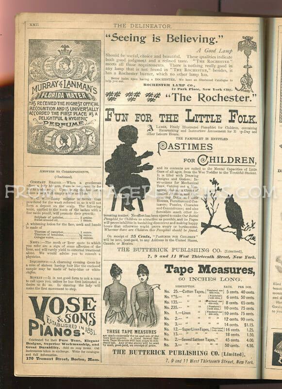 1890s fashion ads