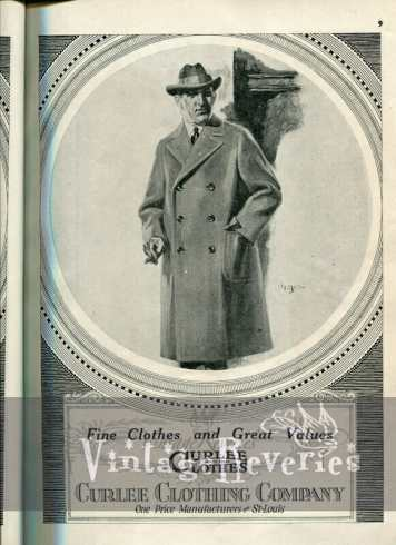 1920s Curlee Clothing Company ad