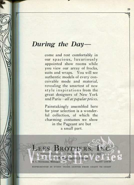 1924 fashion advertisement st louis