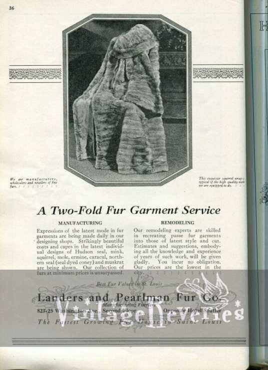 1920s St. Louis furrier advertisement