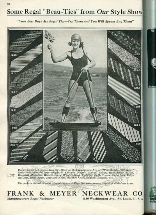 1924 swimsuit model in an advertisement