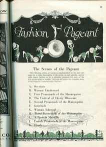1924 St. Louis fashion pageant programme