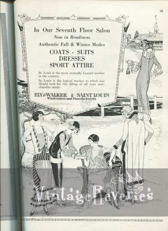 Ely & Walker St. Louis MO 1920s fashion advertisement