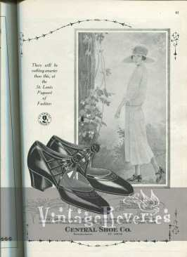 1920s shoe fashion illustration