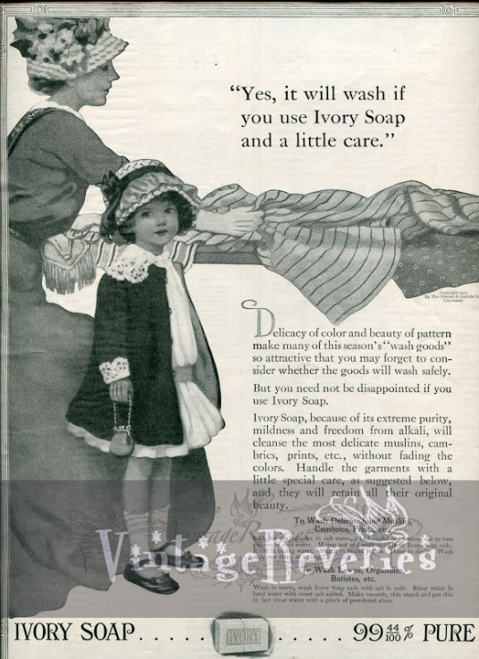 Ivory Soap advertisement vintage 1913